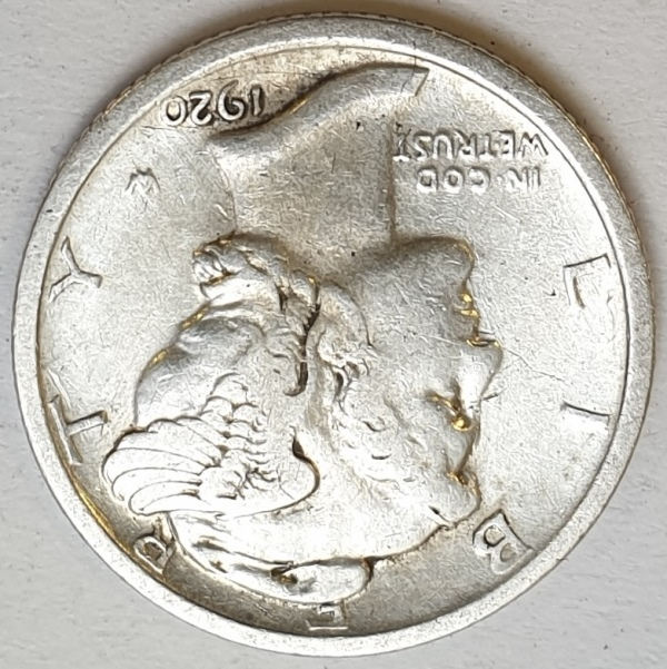 USA - 1 Dime 1920, Silver