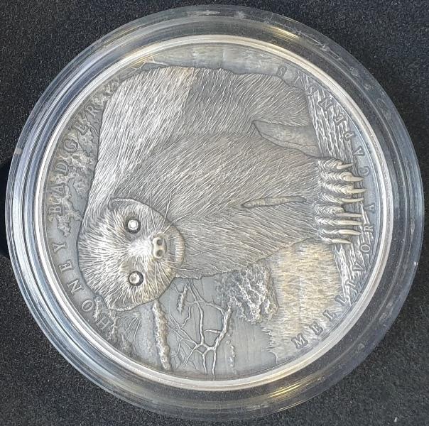 Niue - 2 Dollars 2015 - Honey Badger, Silver 999*