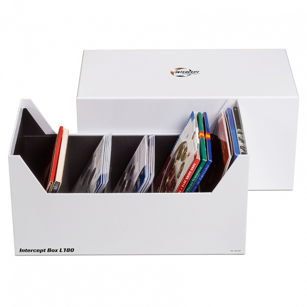 Lighthouse - Box intercept L 180 for sets of coins, letters, documents up to 180 X 160 mm