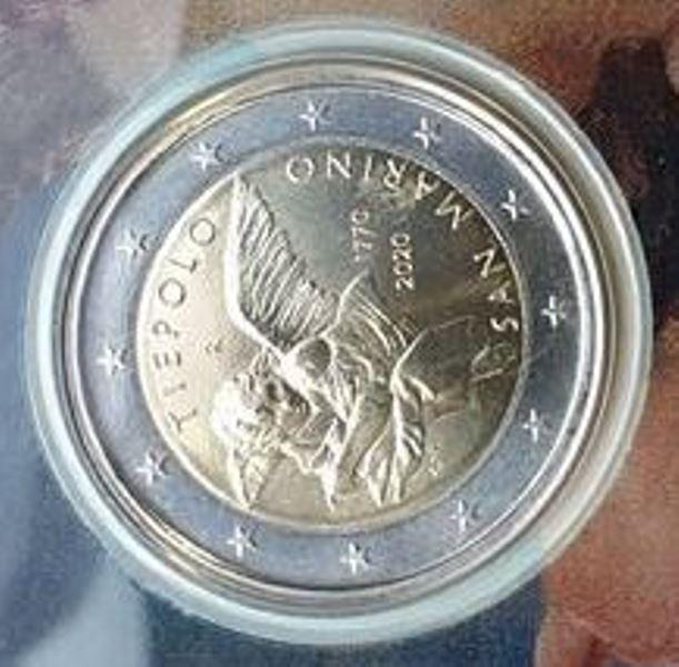San Marino - 2 Euro 2020, Tiepolo, (Coin Card)