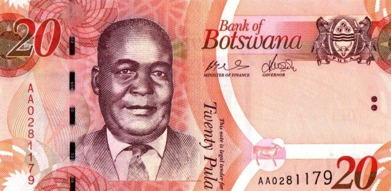 Bank Of Botswana - 20 Pula 2009 - 2017, UNC