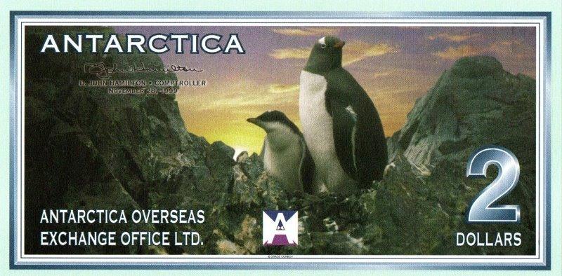 Bank Of Antarctica - 2 Dollars 1999, UNC