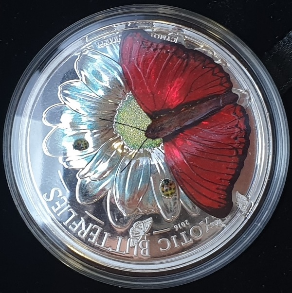 Tanzania - 1000 Shillings - Butterflies in 3D, Silver 999*