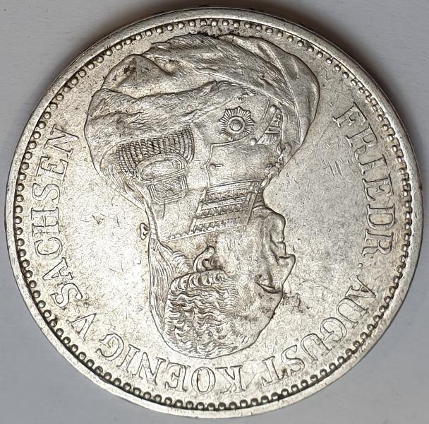 Kingdom of Saxony - 5 Mark 1826, Silver