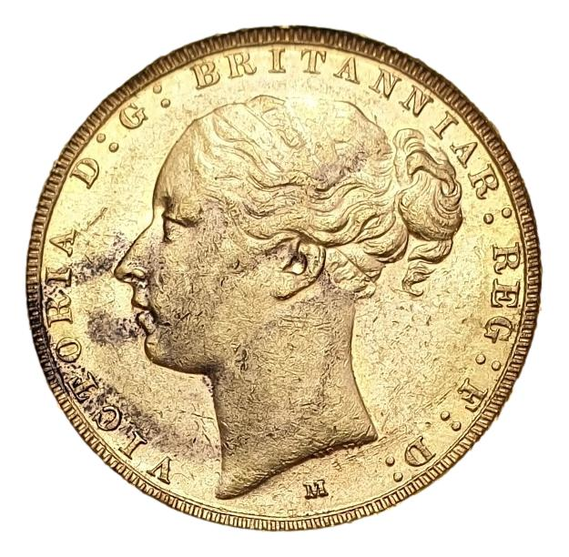 England - 1 Sovereign 1884 Melbourne AU, Victoria young head