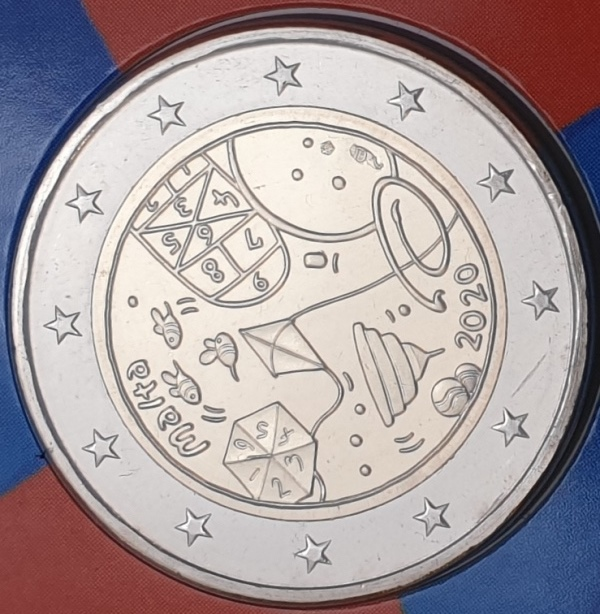 Malta - 2 Euro 2020, From Children in solidarity, (Coin Card)