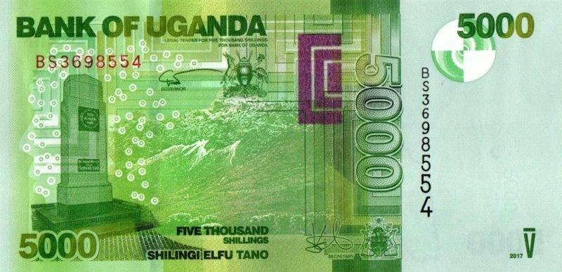 Bank Of Uganda - 5000 Shillings 2017, UNC