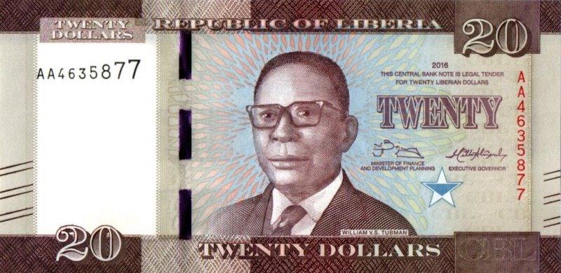 Bank Of Liberia - 20 Dollars 2016, UNC