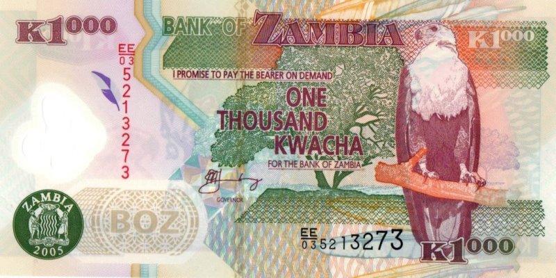 Bank Of Zambia - 1000 Kwacha 2005, UNC