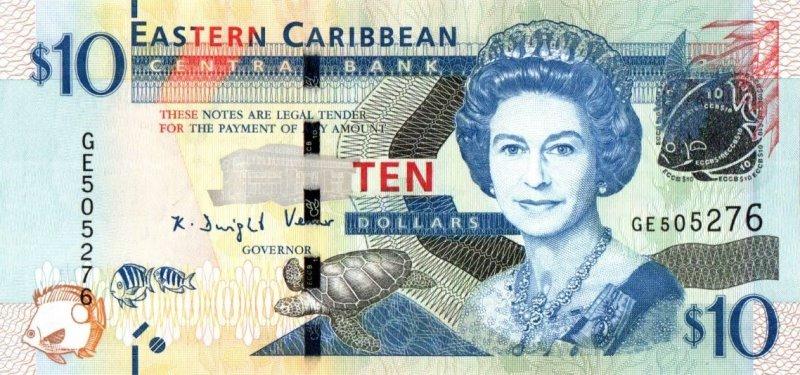 Bank Of Caribbean - 10 Dollars 2012 - 2015, UNC