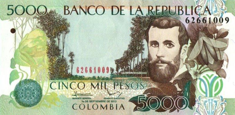Bank Of Colombia - 5000 Pesos 2013, UNC