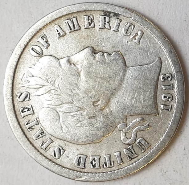 USA - 1 Dime 1913, Silver