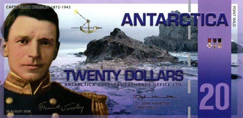 Bank Of Antarctica - 20 Dollars 2008, UNC