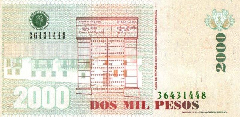 Bank Of Colombia - 2000 Pesos 2014, UNC