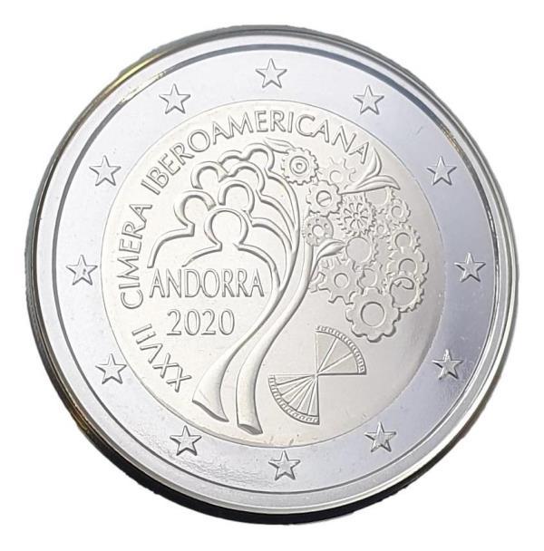Andora - 2 Euro 2020, Iberoamericana, UNC PROOF