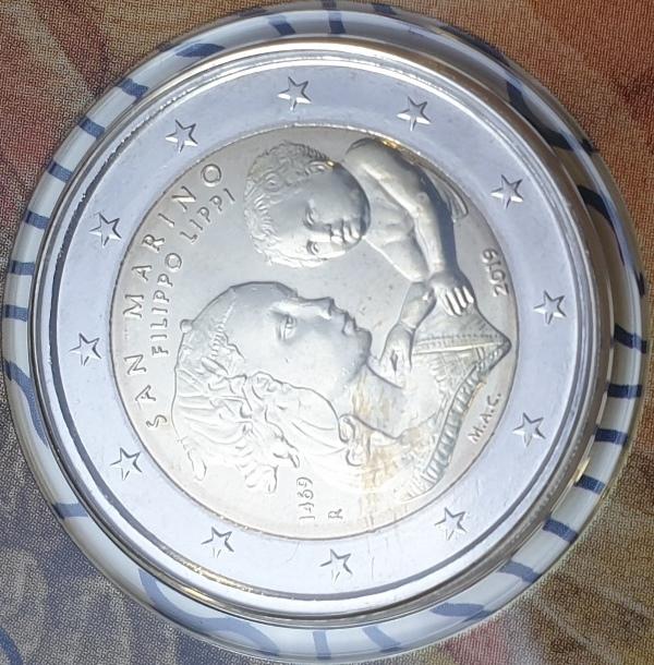 San Marino - 2 Euro 2019, Filippo Lippi, (Coin Card)