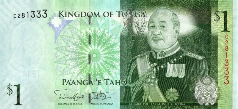 Bank Of Tonga - 1 Pa'anga 2009, UNC