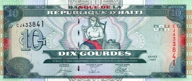 Bank Of D' Haiti - 10 Gourdes 2004, UNC