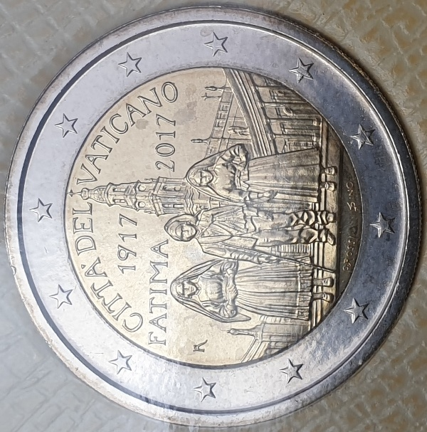 Vaticano - 2 Euro 2017, Centenary of the Fatima Apparitions, (Coin Card)