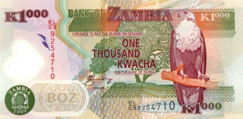 Bank Of Zambia - 1000 Kwacha 2009, UNC