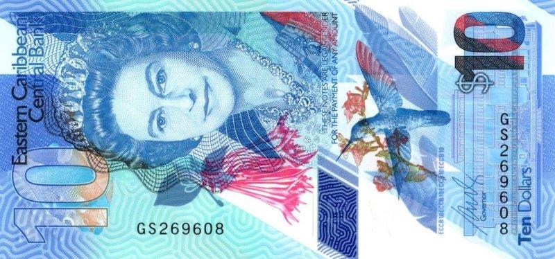 Bank Of Eastern Caribbean - 10 Dollars 2019, UNC