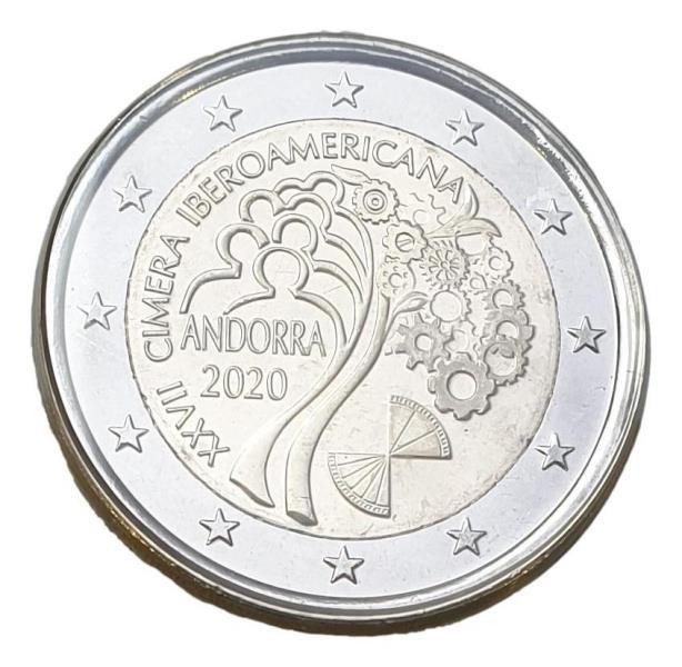 Andora - 2 Euro 2020, ''Iberoamericana'', UNC BU (Coin Card)