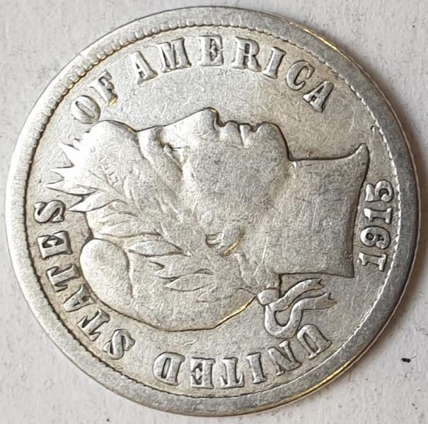 USA - 1 Dime 1915, Silver