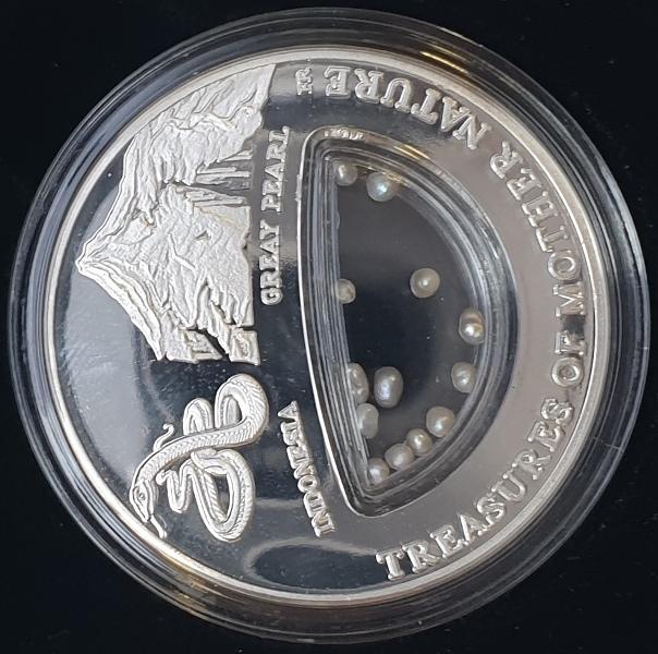 Fiji - 1 Dollar 2014 - Indonesia, Grey Pearl, Silver 999*