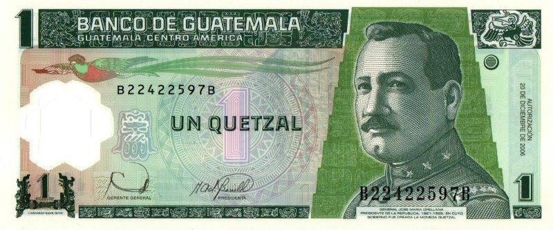 Bank Of Guatemala - 1 Quetzal 2006, UNC