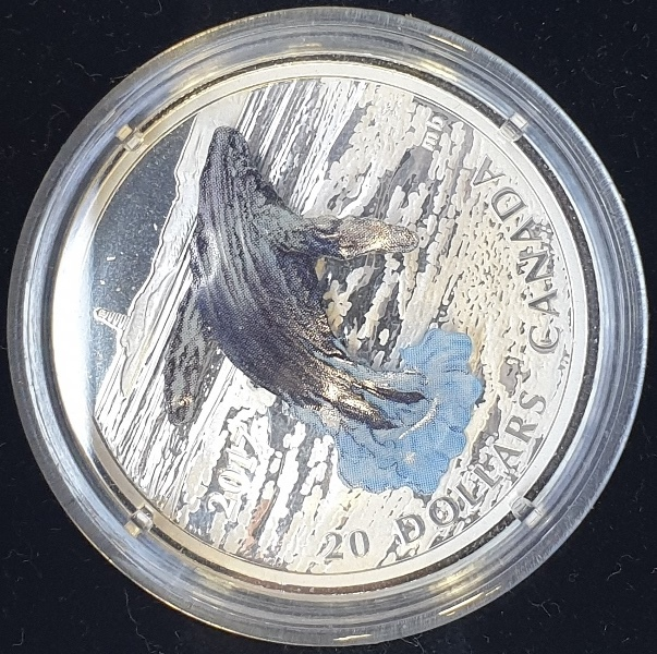 Canada - 20 Dollars 2017 - Breaching Whale, Silver 999*