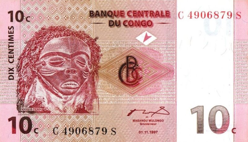 Bank Of Congo - 10 Centimes 1997, UNC