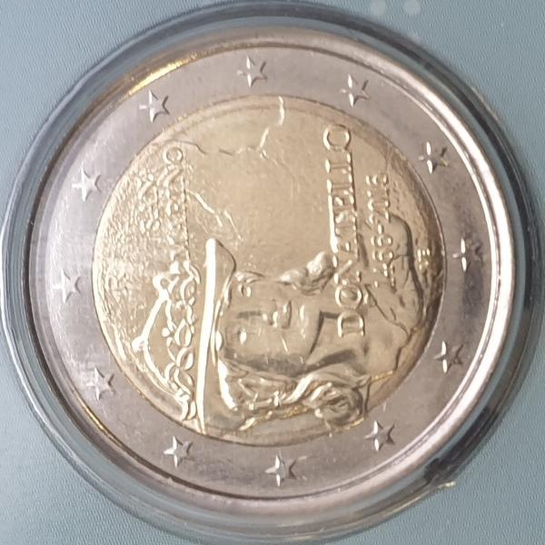 San Marino - 2 Euro 2016, Donatello, (Coin Card)