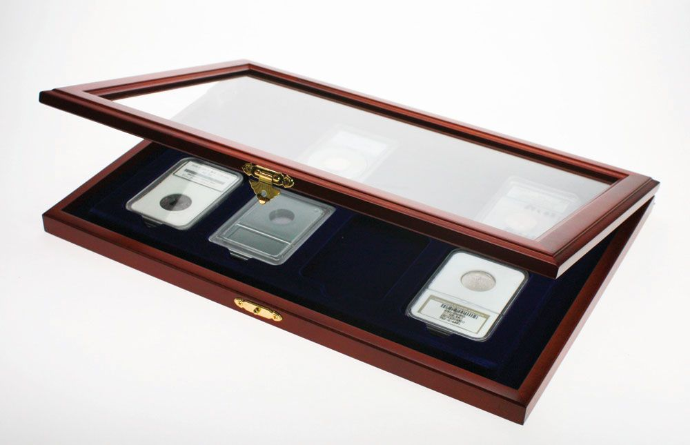 Safe - Coins display case for 8 slabs
