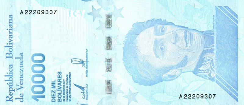 Bank Of Venezuela - 10.000 Bolivares 2019, UNC