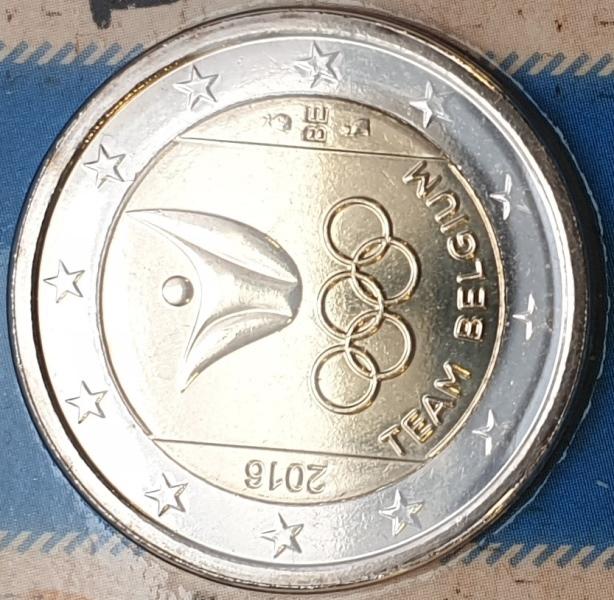 Belgium - 2 Euro 2016, Olympiade Rio De Janeiro, (Coin Card)