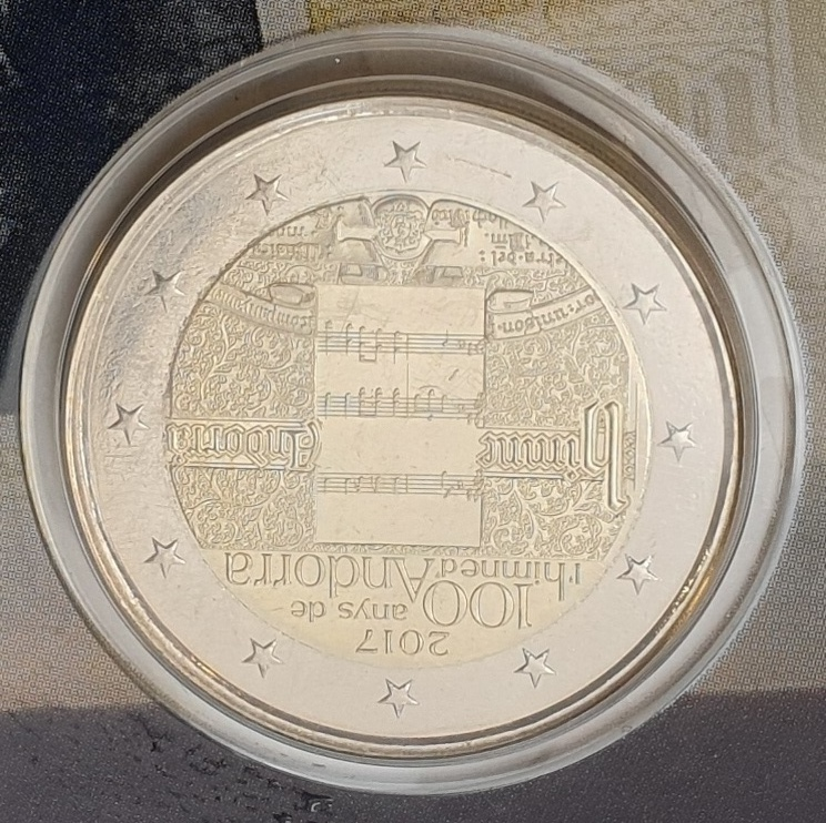 Andora - 2 Euro 2018, 25th anniv. of the constitution of Andorra (Coin Card)