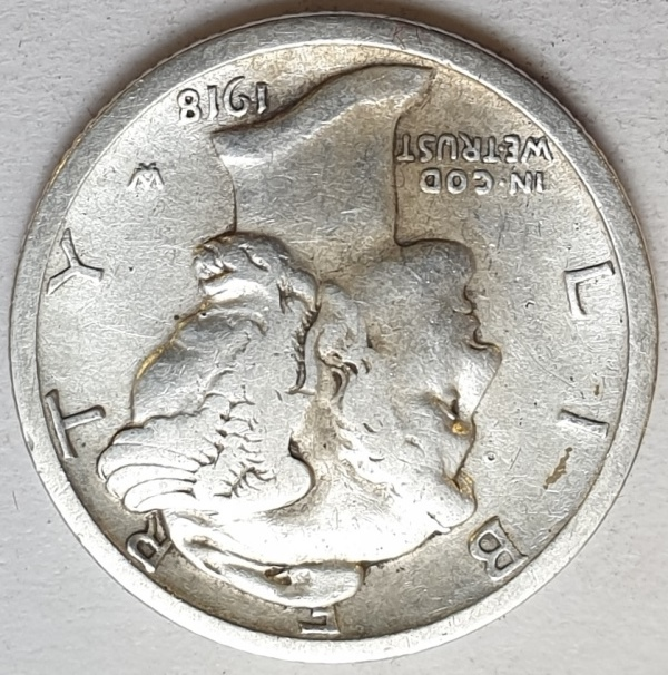 USA - 1 Dime 1918, Silver