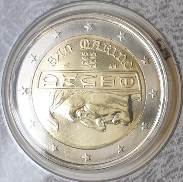 San Marino - 2 Euro 2015, Dante, (Coin Card)
