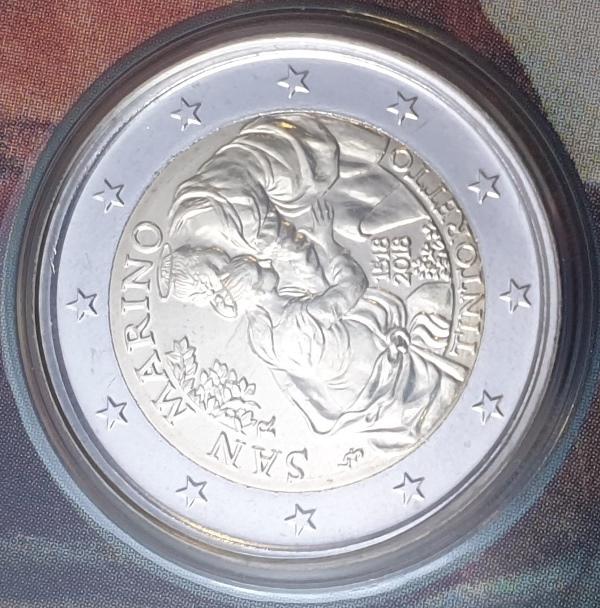 San Marino - 2 Euro 2018, Tintoretto, (Coin Card)