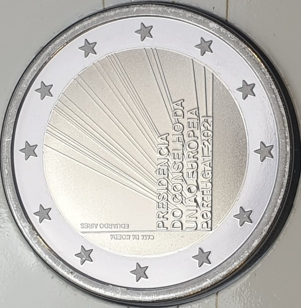 Portugal - 2 Euro 2021, UNC PROOF