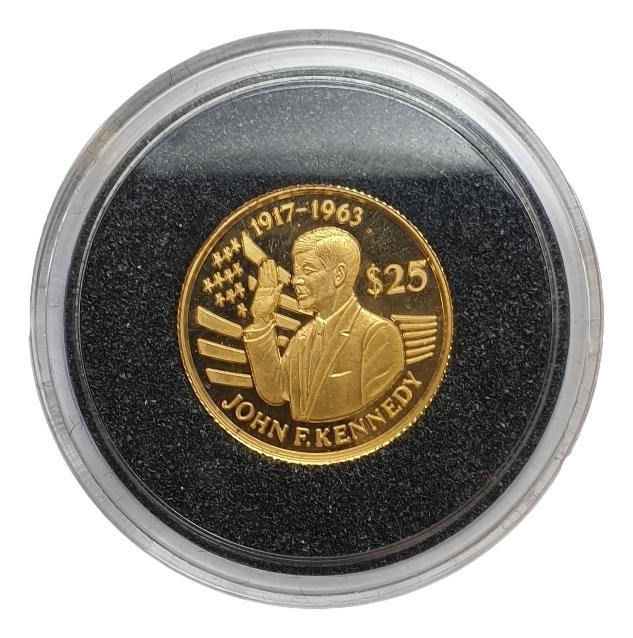 Niue - 25 Dollars 1994 Proof, John F. Kennedy
