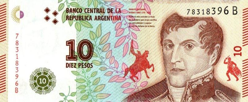 Bank Of Argentina - 10 Pesos 2016, UNC