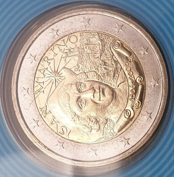 San Marino - 2 Euro 2006, Cristoforo Colombo, (Coin Card)