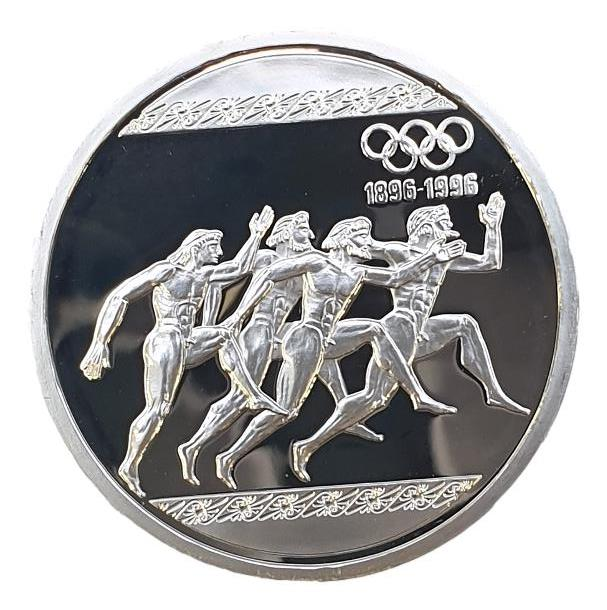 Greece - 1000 drachmas 1996, Special Olympics,Silver Proof-01