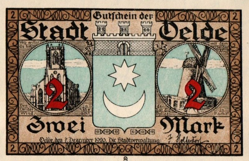 Bank Of Germany - 2 Pfennig 1921, UNC