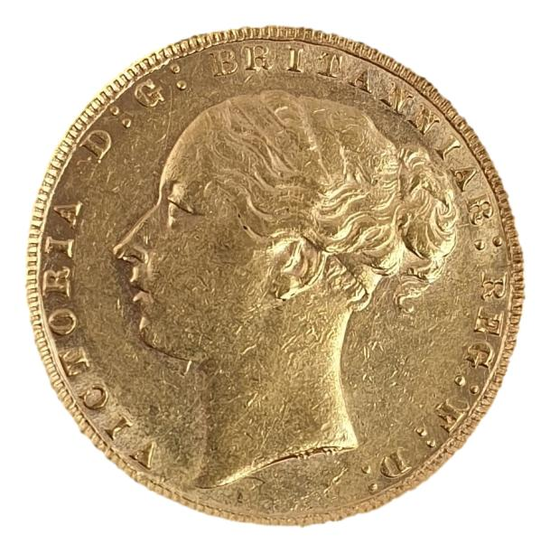 England - 1 Sovereign 1876 AU, Victoria young head