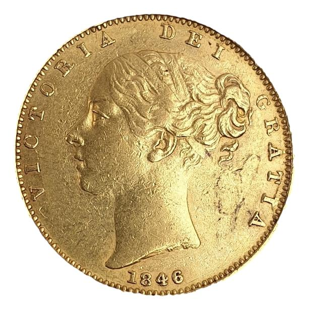 England - 1 sovereign 1846 shield, Victoria Young Head