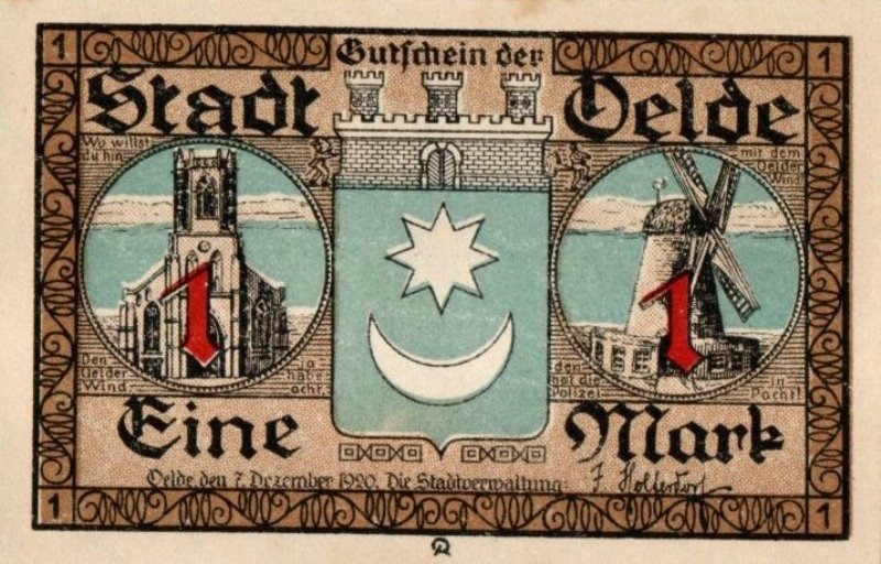 Bank Of Germany - 1 Pfennig 1921, UNC