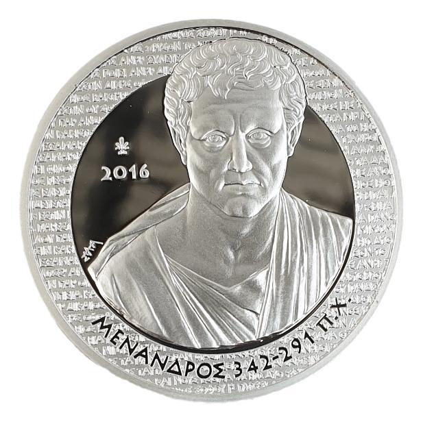 Greece - 10 Euro 2016, Menander, Silver PROOF