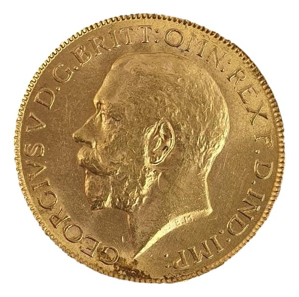 England - Sovereign  1918, George V (Bombay Mint)